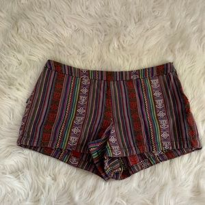 Free People Woven Serape Tribal Shorts